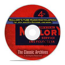 Mallory's Tube Radio Encyclopedia, 1st, 4th, 6th Editions, OTR Rider DVD CD E31