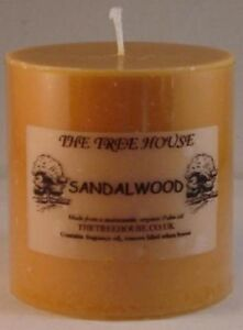 Two-Organic-Palm-Oil-Church-Candles-Sandalwood-scented-5cm-x-5cm-12-hrs-each