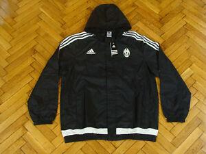 Details about Juventus Torino Soccer Top Italy Juve Jacket Adidas Football Rain Coat NEW