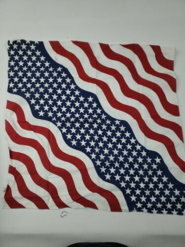 Red White Blue Stars Stripes Bandana USA 100% Cott