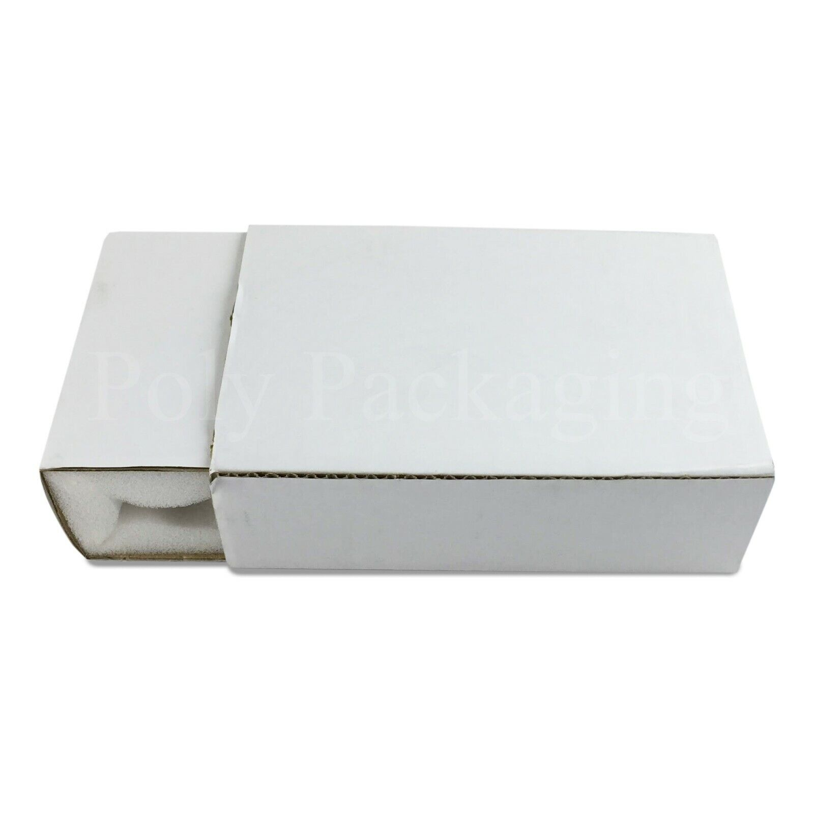 White FOAM LINED Postal Boxes(7x5x2 )Small Shell & Slide PredECTIVE CARTONS