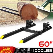 4000lb Steel Tractors Pallet Forks Clamp Skidsteer Loader Fork With Stabilizer Bar