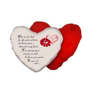 Cuscino cuore scritta in spagnolo poesia te amo mi amor - Finestra in spagnolo ...