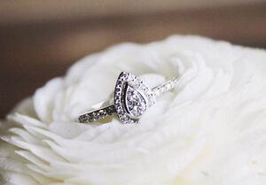 10K-White-Gold-Ladies-Round-Diamond-Pear-Shaped-Engagement-Fashion-Ring-1-4-Ct