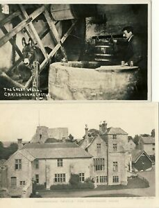 D-055-ISLE-OF-WIGHT-TWO-POSTCARDS-OF-CARISBROOKE-CASTLE