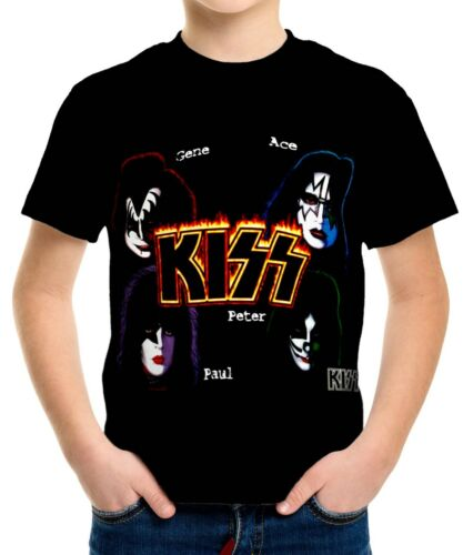 Kiss Boys Kid Youth T-Shirt Tee Age 3-13 New