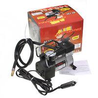 Us Stock Portable Dc 12v Mini Metal Pump Air Compressor Tire Inflator Gauge