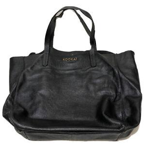 Kookai Large Leather Tote Bag Black