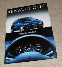 BROCHURE RENAULT CLIO 1998 - 1.2 1.4 1.6 1.9D - RN RT RXE