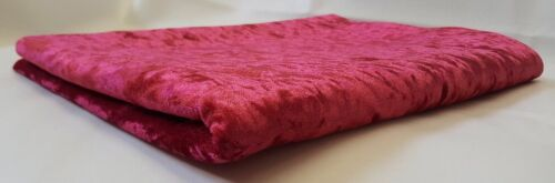 NEW CRUSH VELVET UPHOLSTERY FABRIC AVAILABLE IN 14 COLOURS 145CM WIDTH FREE P/&P