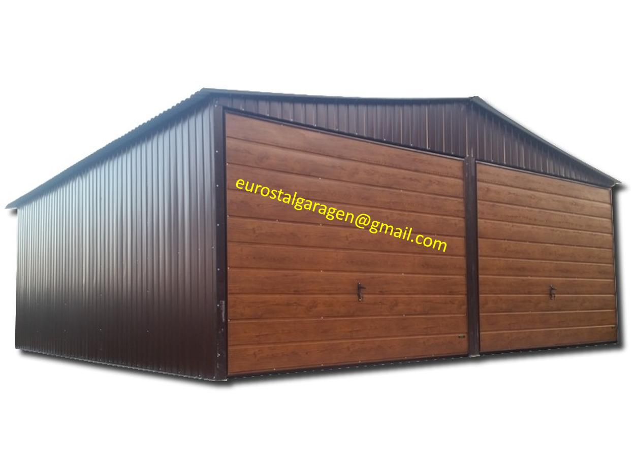 Blechhalle 5x5x2,55 Blechgarage Blechschuppe Schuppe 4Kantprofil  Holzoptik