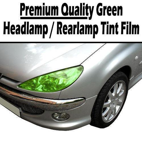 2 x A4 Sheets Green Transparent Car Headlight Rear Lamp Tint Tinting Film