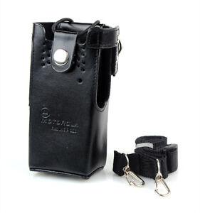 Hard-Leather-Case-Radio-Holder-Bag-Holster-for-Motorola-Radio-GP338-HT750-PRO