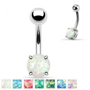 100% QualitäT Nabel Piercing Stein Opal Pailletten
