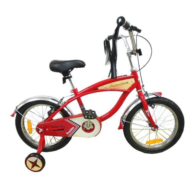 "Schwinn 16"" Red Cruiser Bike, Childrens American Roadster Style Bicycle"