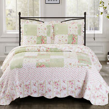 Upland Full / Queen Size Oversized Coverlet 3 PC Set Luxury Microfiber Quilt