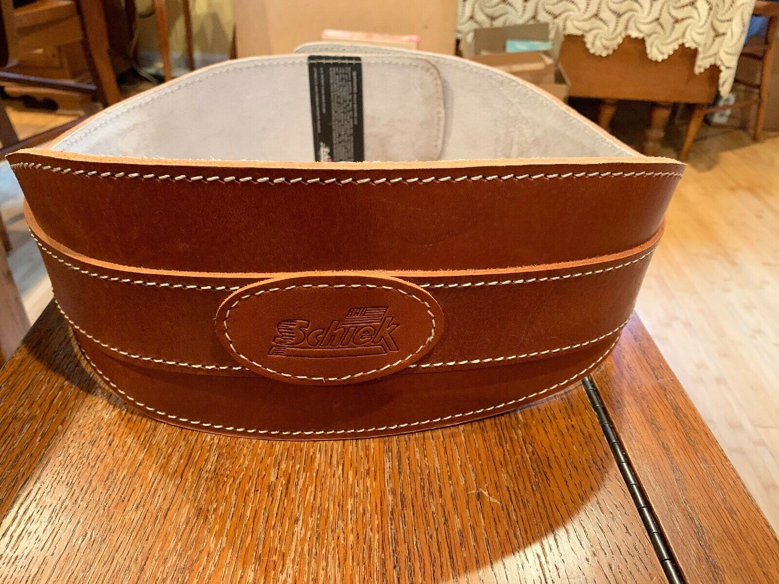 "Shiek 6"" Contour Leather Weight Lifting Belt XL"