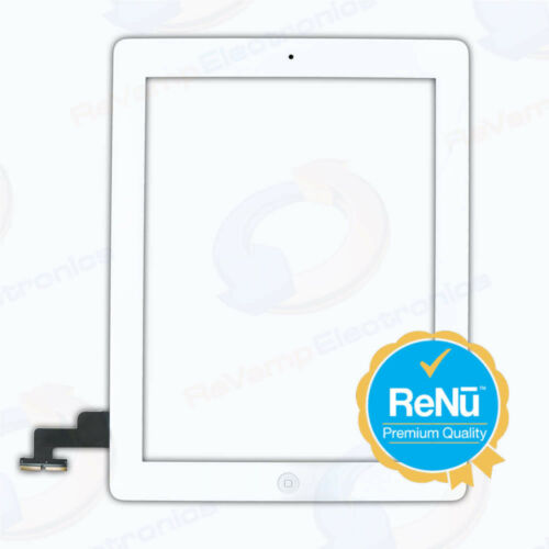 iPad 2 2nd Generation Digitizer Replacement Glass Assembly Adhesive Home Button
