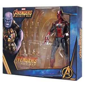 Marvel-Iron-Spiderman-Avengers-Infinity-War-7-inch-Action-Figure-with-holder-toy