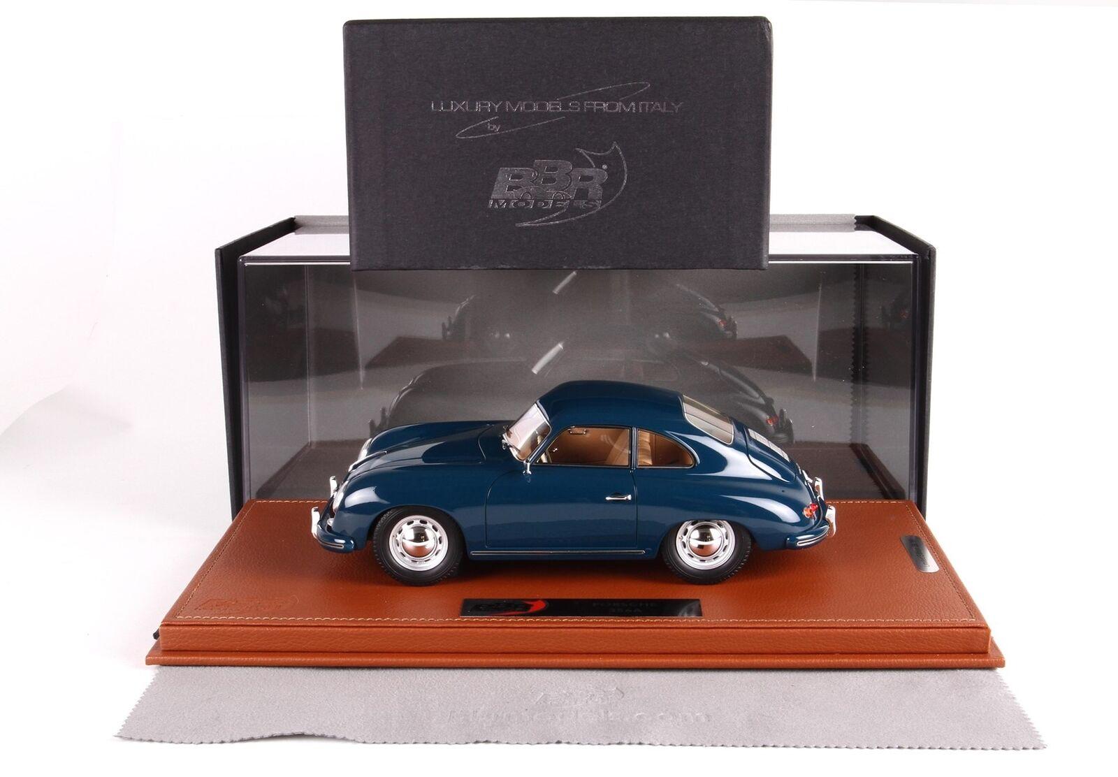 Porsche 356A Coupe 1955 Con Vetrina With Showcase bleu vert BBR 1 18 BBRC1820CV