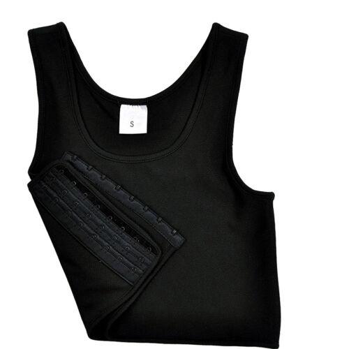 Short Chest Breast Vest Breathable Buckle Binder Trans Lesbian Tomboy Cosplay VE