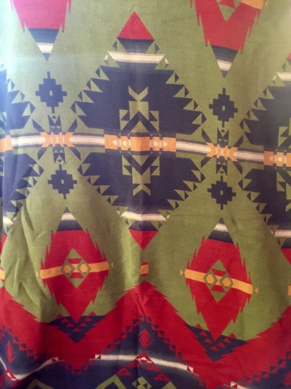 RARE RALPH RALPH RALPH LAUREN GALWAY TRADING POST SERAPE AZTEC SOUTHWEST TWIN BLANKET THROW bca941