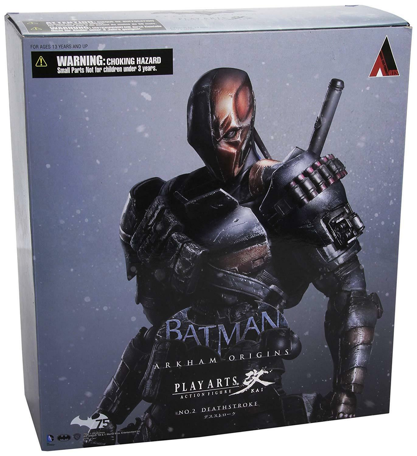 Square Enix Play Arts Kai Deathstroke Arkham Origins Action Figure