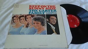 The-Carter-Family-w-Johnny-Cash-Keep-on-the-Sunny-Side-LP-Country-Record-VG