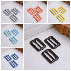 20X-Faux-Leather-Plastic-Rectangle-Slider-Buckles-For-Coat-Skirt-Bag-Ribbon-Belt