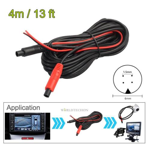 Car RCA Reverse Rear View Parking Camera Video Extension Cable 4M 4Pin Male Wire
