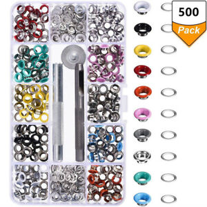 4 Colors PTC 52968-R 100pc 3//16 Metal Eyelets Shoes Clothes Crafts