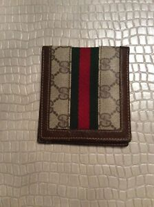 373e1650f6d099 Image is loading GUCCI-Wallet-Mens-Leather-and-Fabric