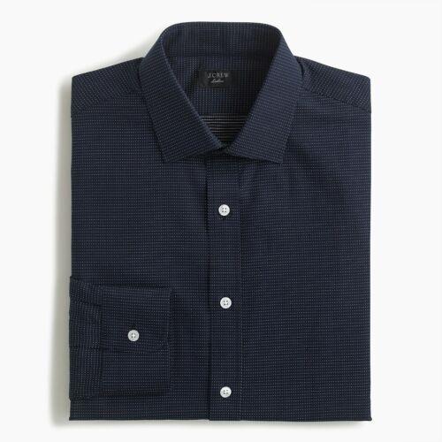 New J Crew Ludlow Shirt Button Up Long Sleeve Dobby Dot Print Blue White NWT