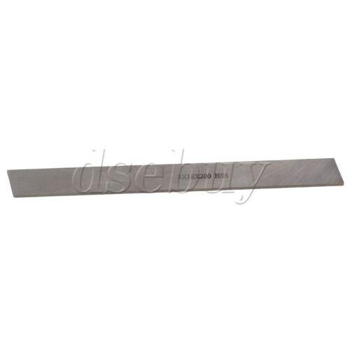 Silver Oblong Shape Metalworking EngravingCutter Lathe HSS Tool Bit 200x18x3mm