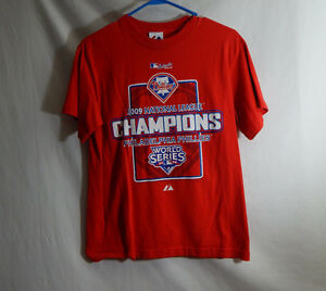 Philadelphia-Phillies-MLB-Baseball-2009-Champions-Shirt-Majestic-Extra-Large-XL