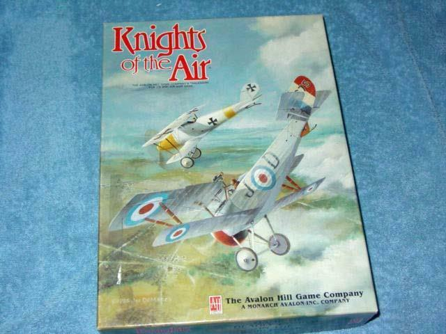 Avalon Hill 1985 - KNIGHTS of the AIR gioco -  World War I Air Combat (UNPUNCHED)  vendita scontata
