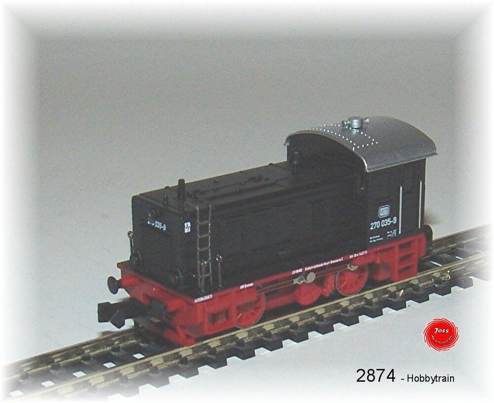 HOBBYTRAIN 2874 Locomotora diésel br270.035-9 dB NEGRO Ep.IV  NUEVO EN EMB.