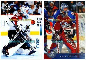 2x-LEAF-1996-PINNACLE-1997-PATRICK-ROY-NHL-COLORADO-AVALANCHE-GOALIE-29-38-LOT