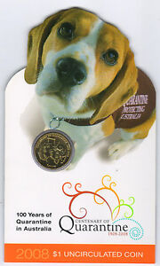 2008-1-UNC-Centenary-of-Quarantine-RAM-coin-Quarantine-Dog-on-card