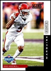 2019 SCORE NFL DRAFT #2 MARQUISE BROWN OKLAHOMA SOONERS ROOKIE CARD