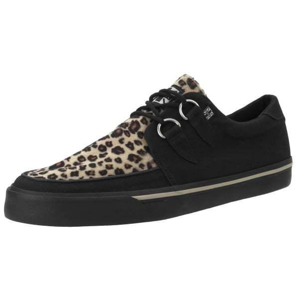 T.U.K. A9181 NUOVO RARO Uomini Scarpe T.U.K. Nero & skate Leopardo VLK Creeper Sneaker skate & f08339