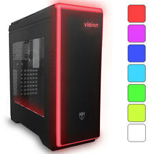 AVP VISION BLACK ATX LIGHTUP USB 3.0 GAMING CASE - 7 COLOUR LED & SIDE WINDOW
