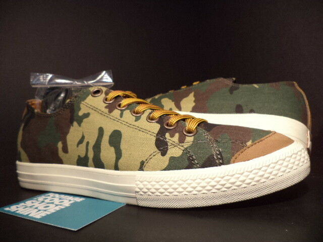 The HUNDREDS VALENZUELA LOW CAMO CAMOUFLAGE OLIVE GREEN BROWN F13P210003 DS 8.5
