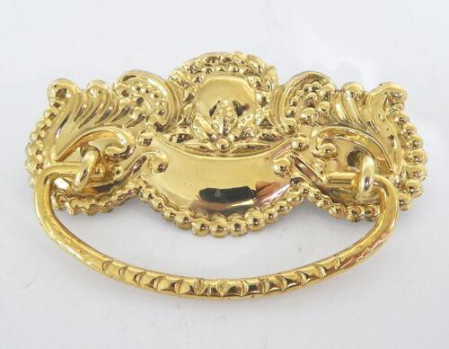 Brass Drawer Pulls Handles With Stamped Brass Back Plate Hardware Dresser