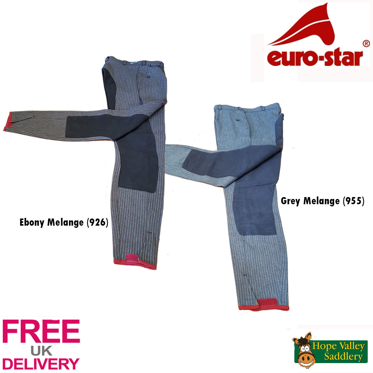 Euro-Star Klarissa Stripe Ladies Breeches (648-1657) - Sale FREE UK Shipping