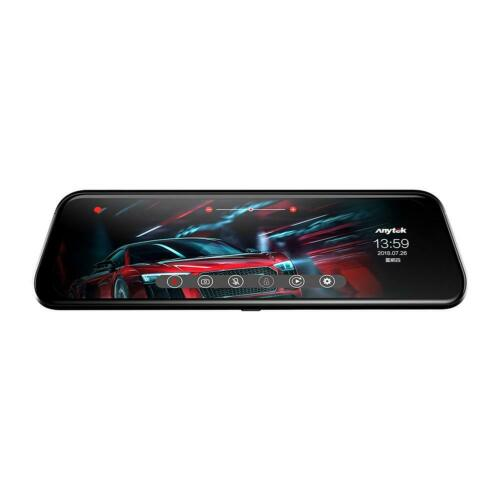 9.66/' Car Dual Lens Rearview Mirror DVR Camera Night Vision Dash Cam Anytek T12