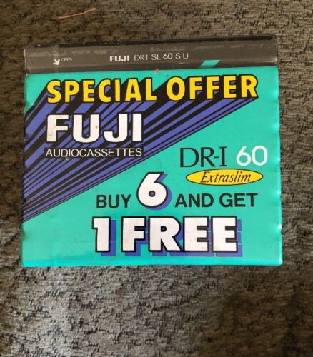 Pack of Fuji DR-I 60 Blank Audio Tape Cassette Type 1 Normal Bias ES NEW 7
