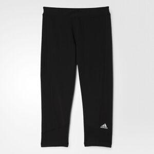 Details zu adidas Damen Climalite Stretch Fitness Running Techfit Capri Hose Tight AJ2256