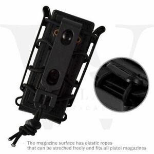 Tactical-Scorpion-Soft-Shell-9mm-Pistol-Magazine-Pouch-Carrier-Tall-w-Belt-Loop