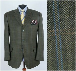 Mens-BRIAN-BROOKS-Size-UK-44R-Check-Houndstooth-Wool-Sport-Coat-Blazer-Jacket